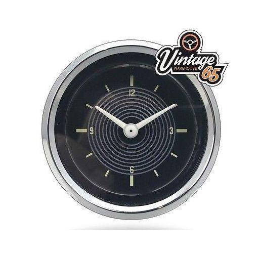 Classic Vw Beetle Ghia Splitscreen T1 T2 52mm Dashboard Time Clock 12v Oe Style