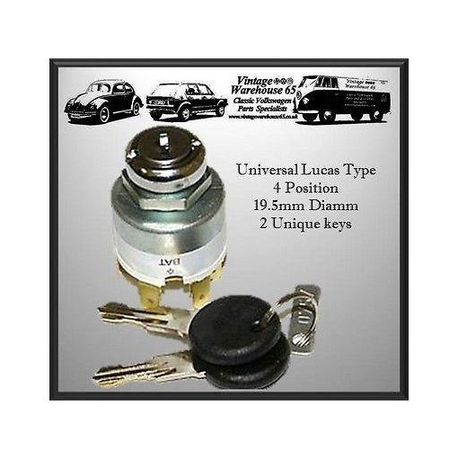Vw Camper Beetle Ghia Universal Fitting Replacement 3 position Ignition Switch
