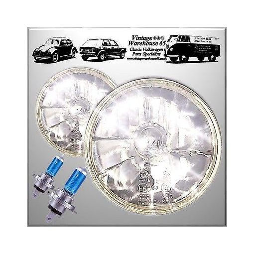 "AC Cobra Kit Car Crystal Xenon 7"" Sealed Beam Halogen Conversion Headlight Kit"