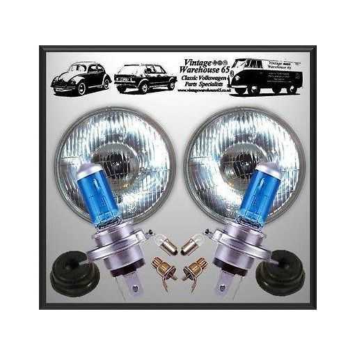 "Jeep Wrangler Xenon Upgrade 7"" Domed Halogen Conversion Headlight Kit"