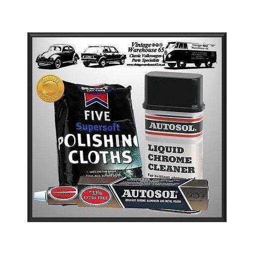 Vw Camper T1 T2 T3 Stainless Steel Chrome Aluminium Polish & Restore Kit