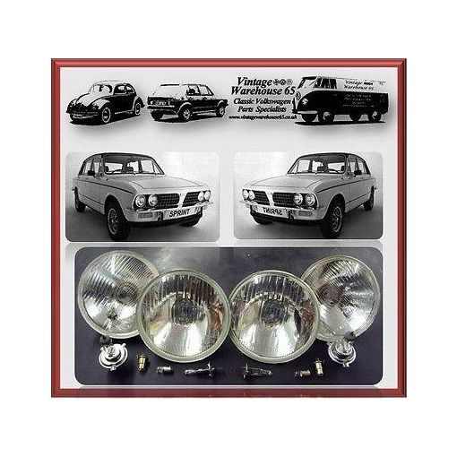 "Triumph Dolomite & Stag 5 & 3/4"" Sealed Beam Halogen Conversion Headlight Kit #4"