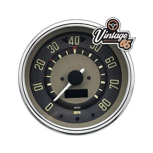 Vw T1 T2 Transporter Splitscreen Camper 80 Mph 12v Digital Speedometer Oe Style