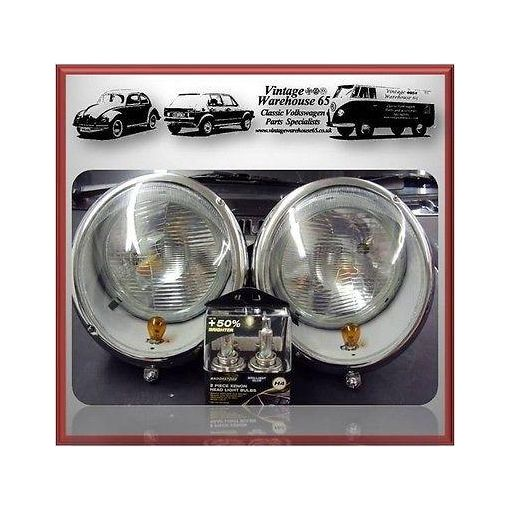 Vw Splitscreen Camper T2 Beetle >1967 Headlight Kit With Xenon Bulb Upgrade #1