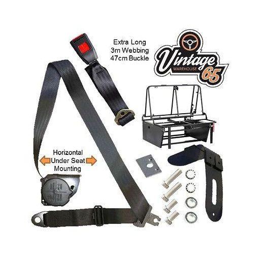 Vintage Warehouse 65 Vw Camper T1 T2 T3 T4 T5 Rock & Roll Bed Seat Belt Kit