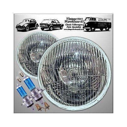 "Mazda Mx5 Miata Xenon Bright 7"" Sealed Beam to Halogen Conversion Headlight Kit"