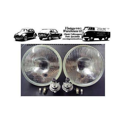 "Toyota Corolla Land Cruiser 7"" Sealed Beam Halogen Conversion Headlights & Bulbs"