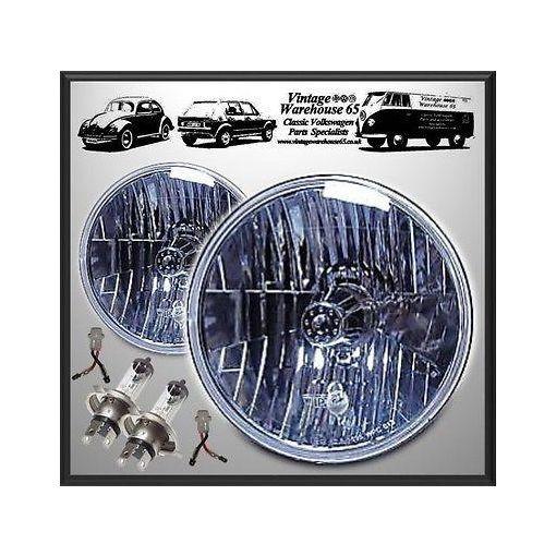 "Mazda Mx5 Eunos Crystal Halogen 7"" Sealed Beam Conversion Headlights With Bulbs"