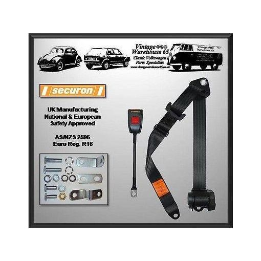 Volkswagen Caddy Mk2 Van Pick-up Front Fully Automatic Seat Belt Kit Black
