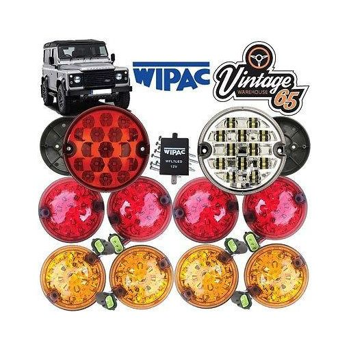 Land Rover Defender Complete Set 10 LED Lamp Light Upgrade Kit RDX Wipac Ring