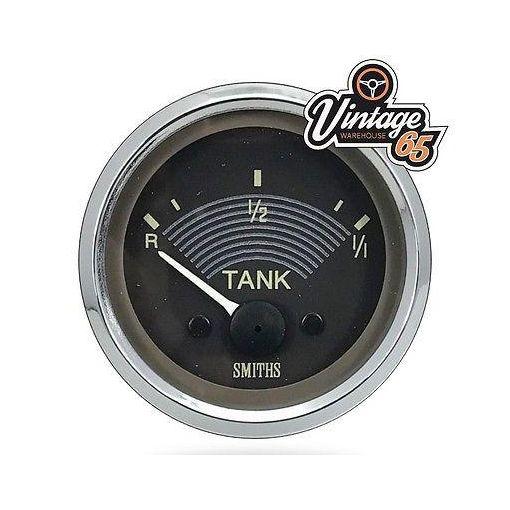 VW Splitscreen Camper T2 OE Style Fuel Gauge Smiths 52mm Retro Brown 12v or 6v