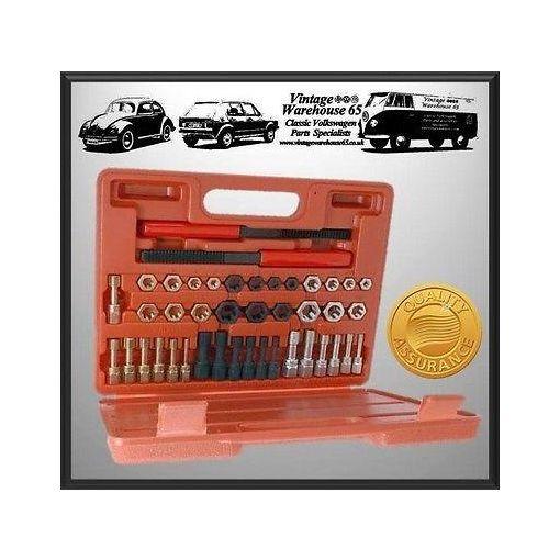Ford Escort Fiesta Sierra 42 Piece Metric & Unf Thread Repair Thread Chaser Kit