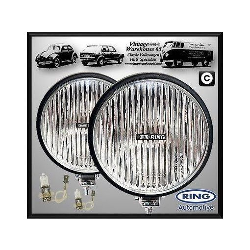 Land Rover Defender Classic Rally Style 12v 55W Fog Lamps Spot Lights Pair