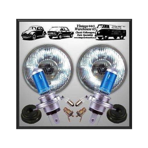"""Range Rover Xenon Upgrade 7"""" Domed Halogen Conversion Headlight Kit"""