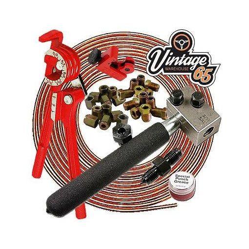 Fiat 124 126 127 135 500 10x1.25mm Metric Pro Copper Brake Line Pipe Repair Kit