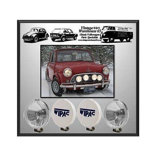 Land Rover- Rover P6 2000 A40 Wipac Chrome Fog & Spot Lamp Kit