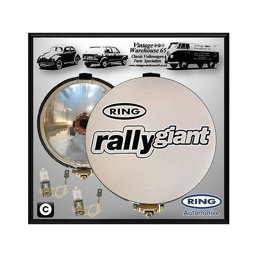 """Vintage Warehouse 65 Pro Rally Giants Pair 7"""" Driving Spot Lamps With Covers"""