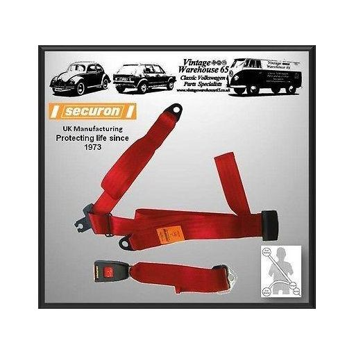 Mg Mgb & Mgcgt Coupe Rear Static 3 Point Seatbelt Red