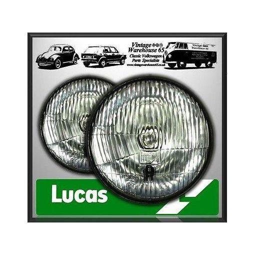 "Land Rover 88/109 Genuine Lucas 7"" Sealed Beam Halogen Conversion Headlights"