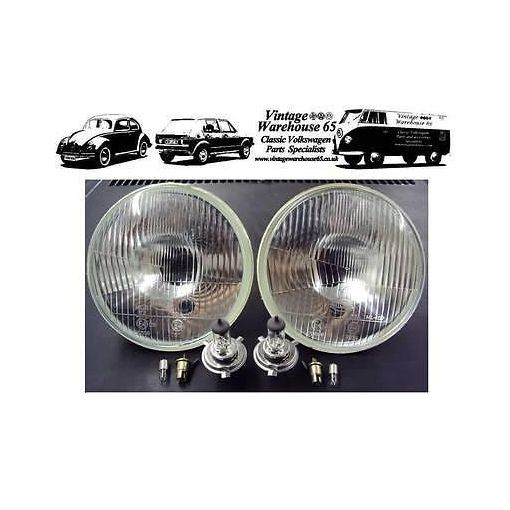 "JCB 3CX 5 3/4"" Halogen Conversion Brighter Sealed Beam Replacement Headlights"