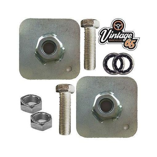 """Classic Vintage Car Kit Car Seat Belt Mounting Plates 7/16"""" Fittings Nuts Bolts"""