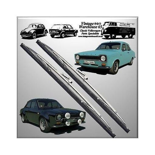 "Ford Cortina Mk1 Saloon Estate 1300 Lotus Sport 15"" Stainless Steel Wiper Blades"