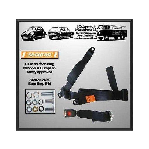 Volkswagen Splitscreen T1 T2 Camper Kombi Rear 3 Point Static Seatbelt Kit