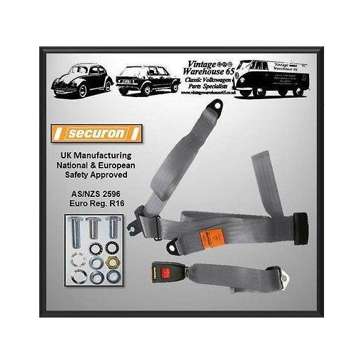 Sunbeam Alpine Series Coupe Convertible Rear Static 3 Point Seat Belt Kit Grey