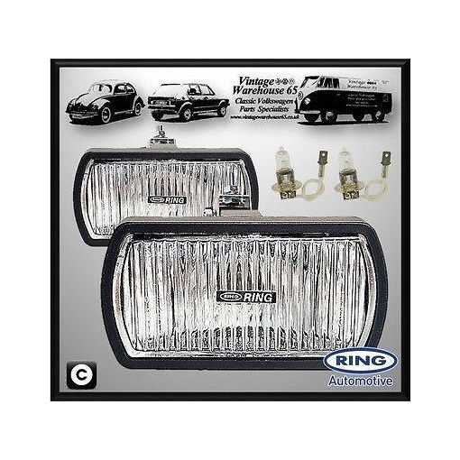 Land Rover Series Classic Rally Style 12v Halogen Fog Lamps Spot Lights Pair