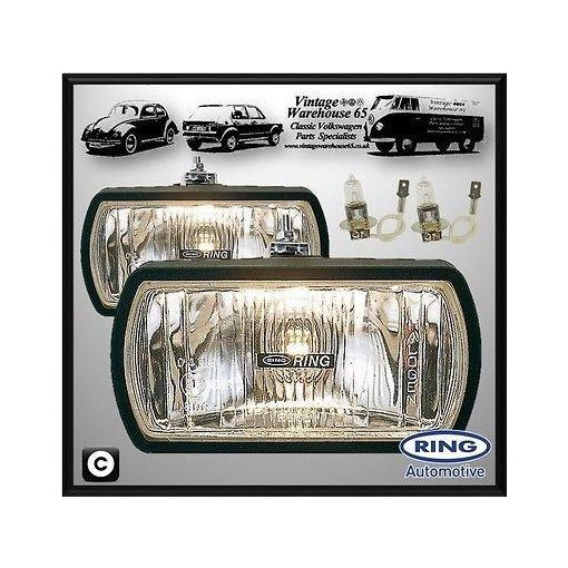 Jeep CJ Wrangler Classic Rally Style 12v Halogen Driving Lamps Spot Lights Pair