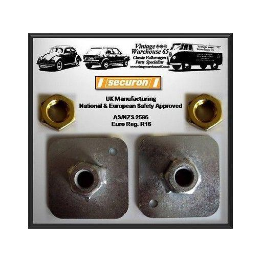 """Classic Car Universal Fitting Car Seat Belt Mounting Plates 7/16"""" With Nuts"""