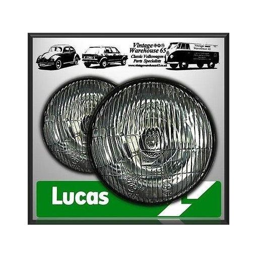 "Reliant Regal Genuine Lucas 7"" Sealed Beam Halogen Conversion H4 Headlights"
