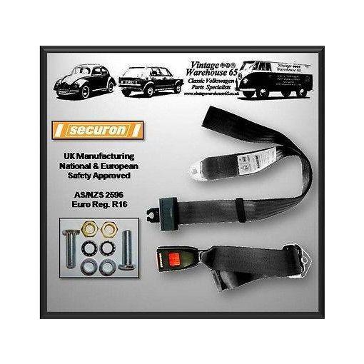 Volkswagen Caddy Mk1 Van Pick-up Static 2 Point Seat Lap Belt Kit Black