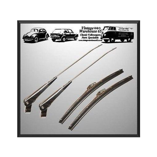 Stainless Steel Wiper Arm Blade Set Mini Cooper Quality 1970 through to 2000