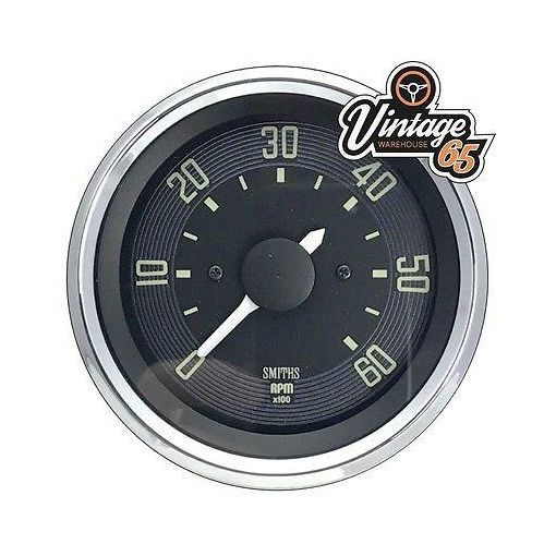 Vw Beetle T1 >67 80mm Rev Counter Tachometer 6000rpm 12v Digital Smiths Oe Style