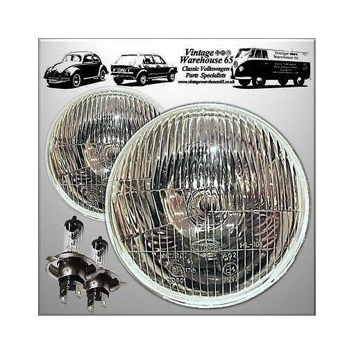 "Triumph Herald 5 & 3/4"" H4 Halogen Conversion Headlights Lamps + Sidelights"