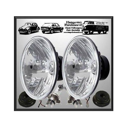 "Ford Cortina Mk1 Crystal Wipac 7"" Sealed Beam Halogen Conversion Headlight Kit"