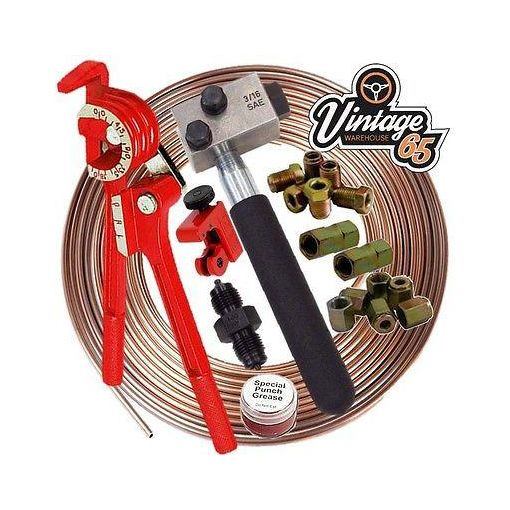 "Porsche 10mm 3/16"" Copper Nickel Cunifer Kunifer Brake Pipe Line Repair Kit"