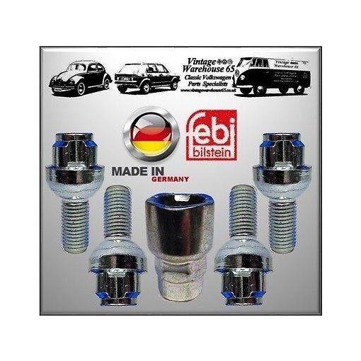 Vw Corrado 1.8 8V G60 Febi Germany Alloy Wheel Locking wheel Bolts Nuts Set