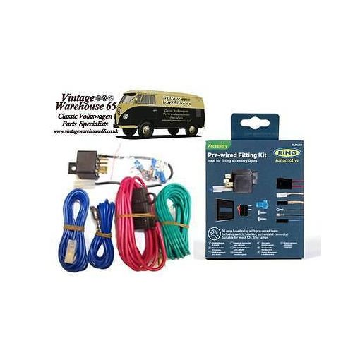 Splitscreen Camper,Beetle,Golf Spot/Fog Lamp Wiring Kit