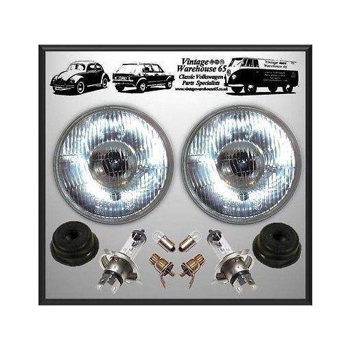 "Jeep Wrangler Classic Domed 7"" Sealed Beam Halogen Conversion Headlight Kit"