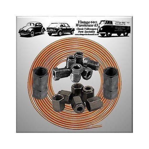 """Daimler Dart 25ft 3/16"""" Copper Brake Pipe Male Female Nuts Joiner Tube Joint Kit"""