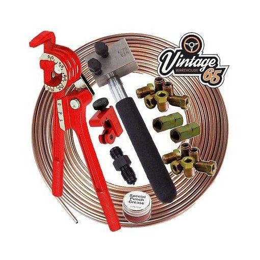 Mercedes DIN 3/16 Cupro Nickel Kunifer Brake Line Pipe Repair Kit Male Unions