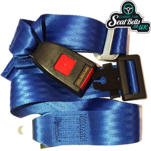 Three Point Static Front Seat Belt Kit 45cm Buckle
