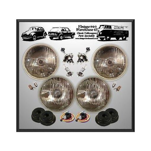 "Triumph Dolomite 5 & 3/4"" LHD Sealed Beam Halogen Conversion Headlight Kit"