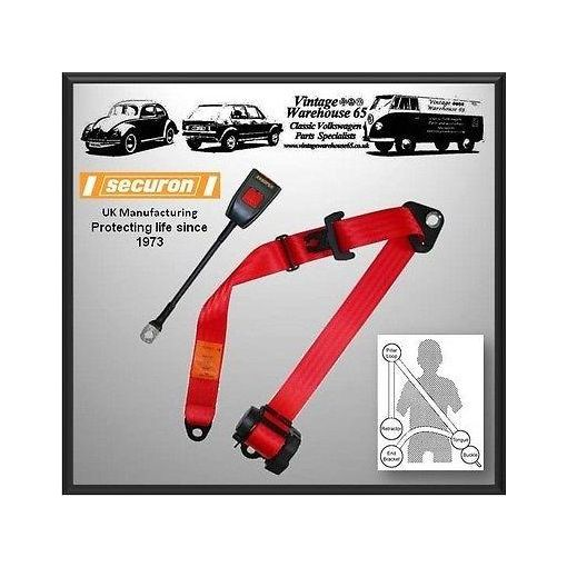 Bedford Chevanne Tb 10 Cwt Van 1976 80 Front Automatic Seatbelt Kit Red
