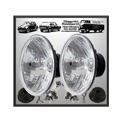 "Jeep CJ Crystal Wipac 7"" Sealed Beam Halogen Conversion Headlight Kit"