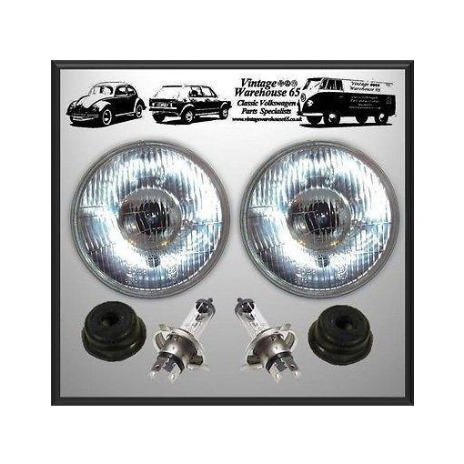 """MG Midget 7"""" Sealed Beam Halogen Conversion Headlights Without Sidelight"""
