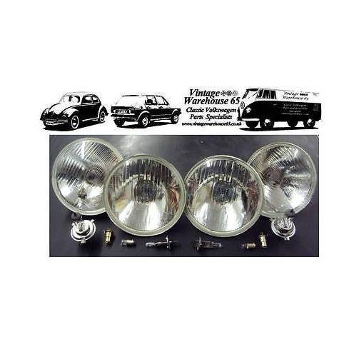 "Datsun 240c 5 & 3/4"" Sealed Beam Halogen Conversion Main & Spot Headlights 1"