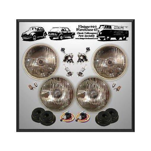 "Toyata Hiace Mk1 5 & 3/4"" LHD Sealed Beam Halogen Conversion Headlight Kit"